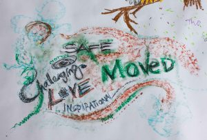 "Creative drawing ""Safe Motion Challenging Love Inspiration Moved"" Therapy Testimonial"